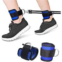 Ceintures de cheville sport,Braguette de manchette en d-anneau de fitness pour entraînement de machine à câble Exercices de bout de jambe (un paquet de 2)
