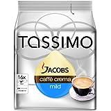 Tassimo Jacobs Caffè Crema Doux & Velouté, Rainforest Alliance Vérifié, Lot de 5, 5 x 16 T-Discs