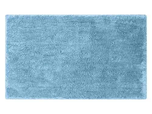 npluseins die extra Streicheleinheit für Ihre Füße in Markenqualität - Mikrofaser Badteppich - erhältlich in 13 modernen Farben und 6 verschiedenen Größen -, blau, 60 x 100 cm