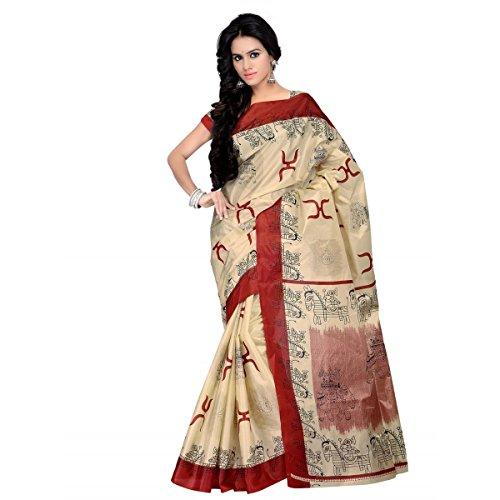 Triveni Women's Jute Printed saree_TSKJ13353