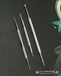 Macs Care Blackhead Blemish Remover Clear Tool Acne Pimple Extractors Lancet Set Of 3 PCs Macs-2008P3
