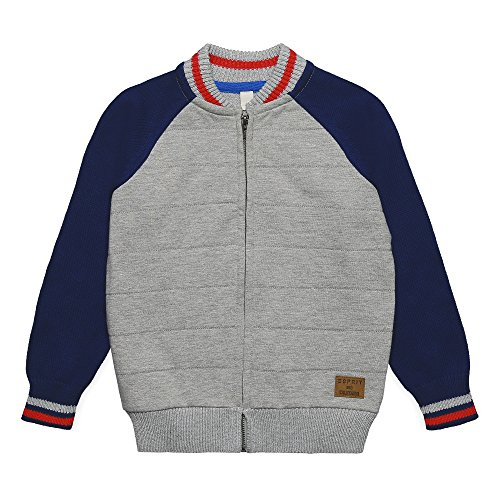 ESPRIT Kids Jungen Strickjacke RK18044, Grau (Light Heather Grey 221), 128