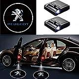MIVISO LED Car Projector, 2 pezzi Car Door Welcome Light Light, Universal Magnetic Sensor Shadow Logo Shadow