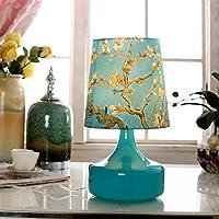 LEDMLSH Tabellen-Lampe blaues Glas-Schlafzimmer-Nachttisch-Raum-Wohnzimmer-moderne kreative einfache Art und Weise... preisvergleich bei billige-tabletten.eu