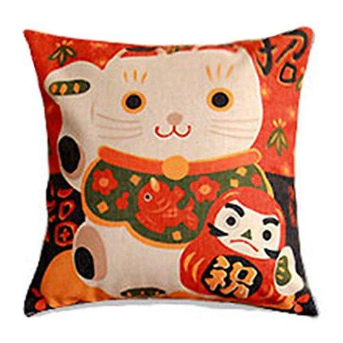 Black Temptation Style Japonais Coussin d'oreiller Confortable pour la Maison/Sushi Restaurant 45x45cm -A1