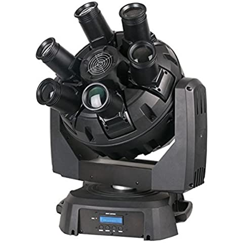 Showtec XS – 6 Center Beam effect – 6 Movin gheads su un mittelstück rotanti, Multi beamhead