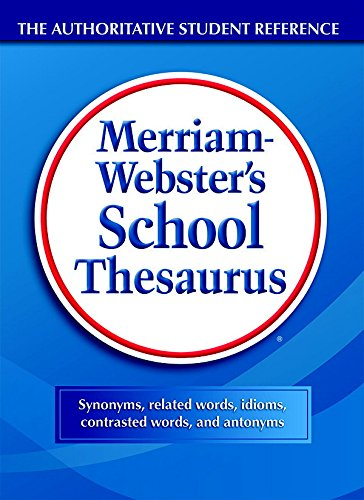 School Thesaurus, Grades 9-11, Hardcover, 704 Pages, Sold as 1 Each