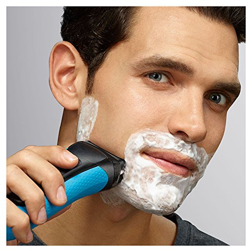Braun Series 3 ProSkin 3040s Rechargeable Cordless Wet and Dry Electric Shaver/Razor for Men with Pop-Up Trimmer – Blue
