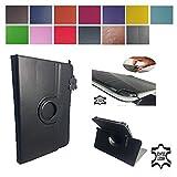 Case Cover für Samsung Galaxy Tab S2 SM-T819 LTE Tablet Schutzhülle Etui mit Touch Pen & Standfunktion - 360° Echtleder Schwarz 9.7 Zoll