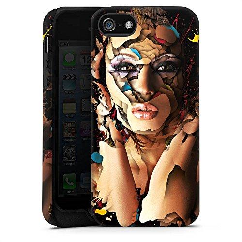 Apple iPhone X Silikon Hülle Case Schutzhülle Frau Gesicht Augen Tough Case matt