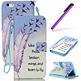 iPhone 4S Coque Antichoc,Cute Coque Pour iPhone 4S,iPhone 4 Coque en Cuir Folio Flip...