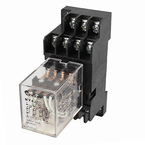 my4j-ac24V DIN Schiene Coil 4PDT 14P General Purpose Power Relay w Basis de -