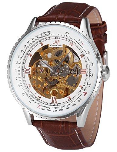 KS Automatikuhr groß Herren Uhr Mechanische Automatik Uhr Herrenuhr Armbanduhr