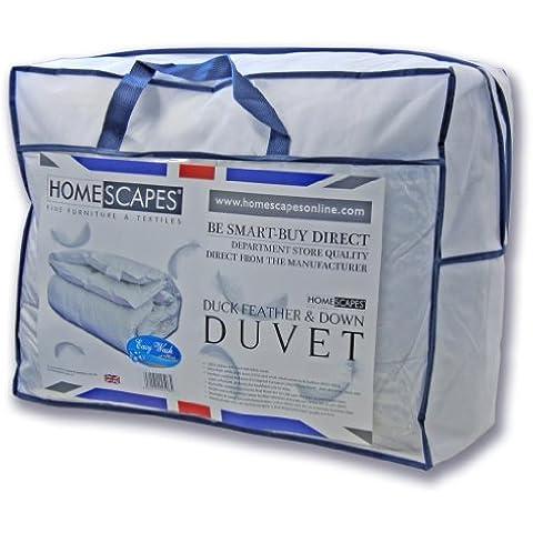 Homescapes Edredón Confort relleno nórdico Plumón de pato para una cama de 105 con una densidad de