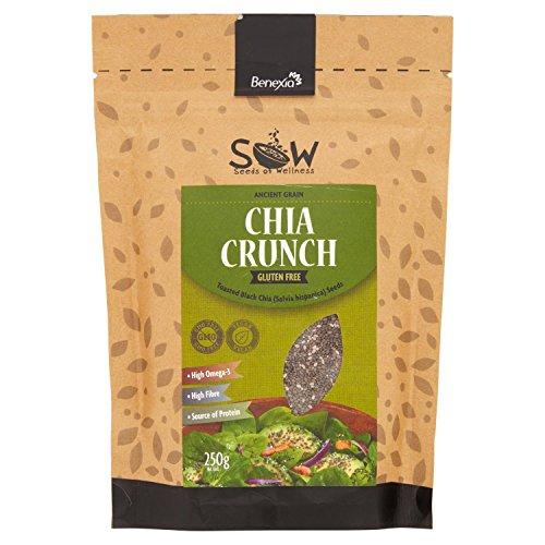 SOW Seeds of Wellness - Chia Crunch - Geröstete schwarze Chia-Samen 250g (Natürliche Schwarze Samen-öl)
