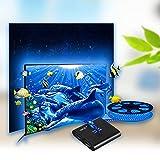 CroLED TV-Umgebungslicht RGB Lichterkette Smart LED Streifen TV Backlight automatische Farbwechsel nach TV Schirm mit TV-Hintergrundbeleuchtung 5 M AC100-240V Unterstützt 4K