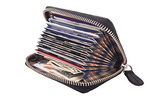 Universal Kreditkartenetui und Geldbörse aus Leder Kartenetui, Visitenkartenetui, Geldbeutel, Schlüsselbörse aus Leder schwarz
