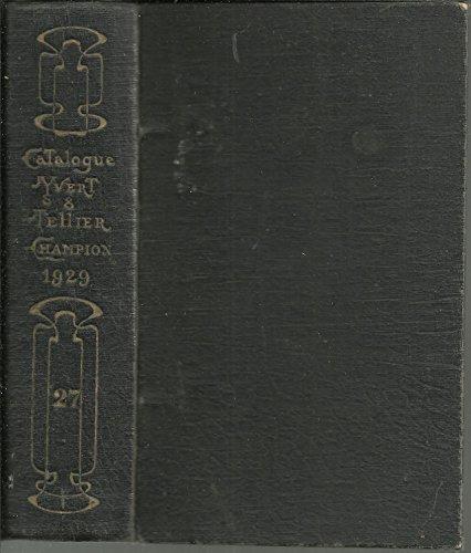 Yvert et Tellier-Champion. Catalogue prix-courant de timbres-poste. 10e -33e, 35e-53e édition, 1906 -1929, 1931-1949