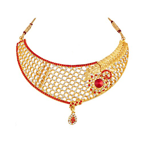 Apara Gold Plated Necklace Set with Austrian Diamond for Women