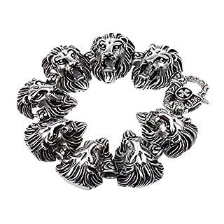 Amur Leopard Titanium Vintage Punk Bracelet Lion 9