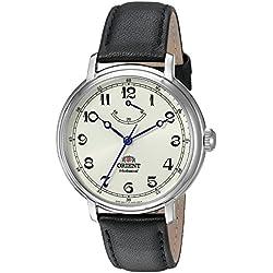 Orient Monarch Armbanduhr mit Handaufzug und weißem Zifferblatt und Batteriestands-Anzeige DD03003Y