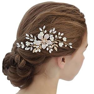 Bridal handgemachte Silberfarbe Crystal Blatt Style Haare Seite Kamm Party Jubiläum Hochzeit Zubehör
