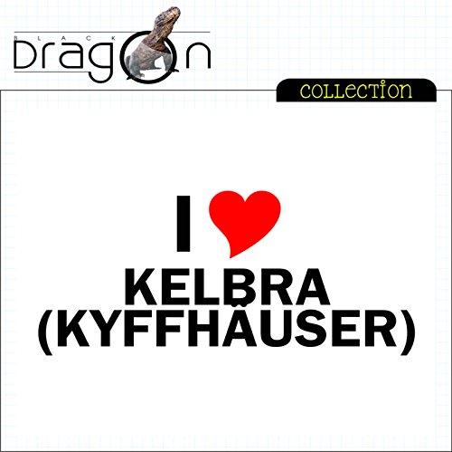 T-Shirt mit Städtenamen - i Love Kelbra (Kyffhäuser) - Herren - unisex Weiß