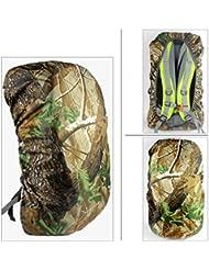 hunpta camuflaje impermeable cubierta de la lluvia Mochila de viaje mochila de senderismo al aire libre Camping bolsa, negro