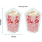 AMATHINGS 5-er Pack Duftbaum Popcorn-Aroma Lufterfrischer Auto-Duft