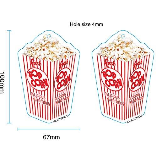 5-er Pack Duftbaum Popcorn-Aroma Lufterfrischer Auto-Duft