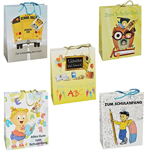 Preisvergleich Produktbild 1 Stück - Geschenkbeutel / Geschenktasche - GROß - für den Schulanfang Schuleinführung - Geschenktüte Tüte Beutel Tasche Kinder