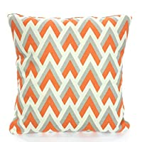 Tobti6ob Orange Gray Chevron Pillow Covers Decorative Throw Pillows Orange Grey Natural Cushions Couch Pillows Chevron