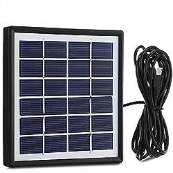 EleLight 1.8W Panneau solaire Portable Etranche Rechargeable USB avec Ligne de Sortie de 3 m Interface V 8 pour Ampoule LED Banque d'Alimentation et Téléphone Portable