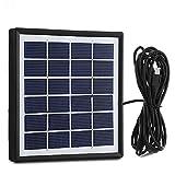EleLight 1.8W Panneau solaire Portable Etranche Rechargeable USB avec Ligne de Sortie de 3 m Interface V 8 pour Ampoule LED Banque d'Alimentation et Téléphone Portable...