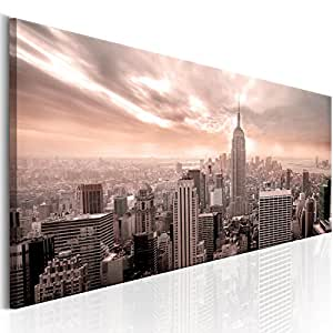 murando bilder new york 135x45 cm leinwandbilder fertig aufgespannt vlies. Black Bedroom Furniture Sets. Home Design Ideas