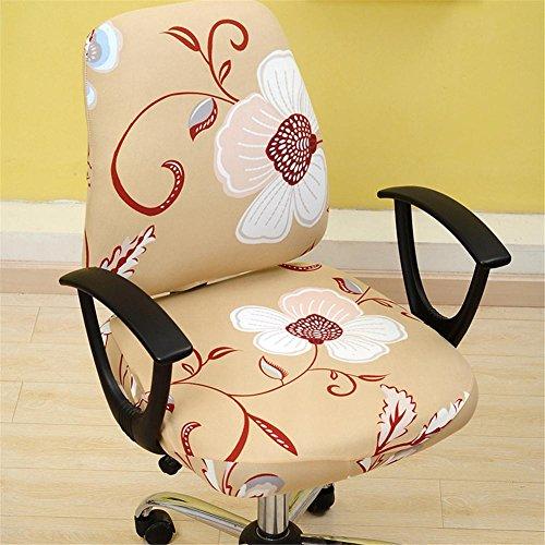 kbsin212drehbar Chair Cover Simplism Style abnehmbarer Stuhl Bezug dehnbar Büro Computer Stuhl Bezug Aufgabe Baumwolle Stuhl Bezug Schonbezug Elastic Bürostuhl Sessel Displayschutzfolie Cover D -