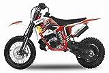 Dirtbike 49cc NRG 50 12'/10' RS Neues Design Cross Pocket Bike ATV Kinderfahrzeug (Rot)