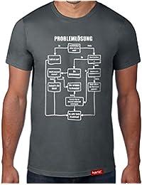 Problemlösung - Es gibt kein Problem    Original Hariz® T-Shirt - Sechzehn  Farben, XS-4XXL    Lustig   Männer  … 5164a39632