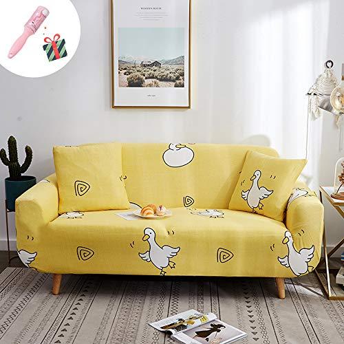 Elastisch Sofa Überwürfe Sofabezug 2 Sitzer, Morbuy Ecksofa L Form Stretch Antirutsch Armlehnen Modern Sofahusse Sofa Abdeckung Hussen für Sofa Couchbezug Sesselbezug (3 Sitzer,Gelb)