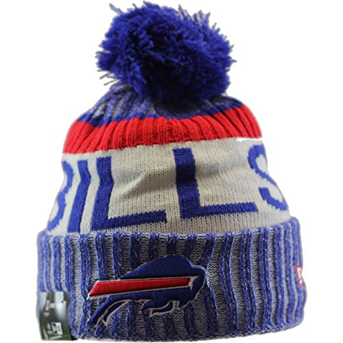 Buffalo Bills New Era 2017 NFL Sideline On Field Sport Knit Hat Hut - Blue