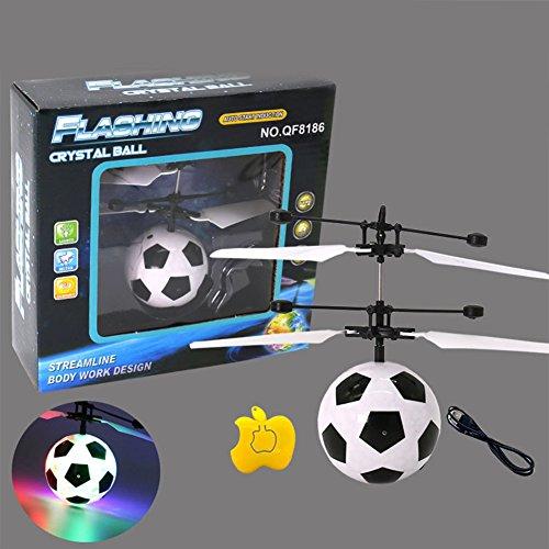 Frame Mini Anhänger (Zantec LED Fernbedienung Flying Globe / Fußball fliegen RC Drone Hubschrauber Infrarot Induktion Mini Flugzeuge für Kinder / Teenager)