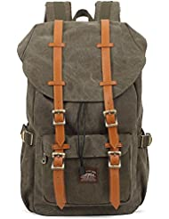 KAUKKO New Feature of 2 Side Pockets Outdoor Travel Hiking Backpack Laptop Schoolbag for Men and Women