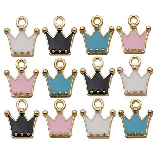 YukuCharms - Ciondoli misti a forma di frutta, in resina, per decorazioni fai da te, 100 pezzi Crown