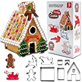 Beetop 3D Ausstechformen Edelstahl DIY Weihnachten Ausstecher Set für Keks Backen Fondant Plätzchen Tortendekorationen (Haus)