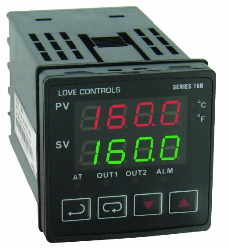 Dwyer Love Series 16B 1/16 DIN Temperature and Process Controller, Relay Outputs 1 and 2 by Dwyer -