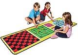 erdbeerwoody - Melissa & Doug- Spielteppich Gesellschaftsspiel klassische Brettspiele mit 36 Spielsteinen, 200x67cm, Mehrfarbig, Mehrfarbig