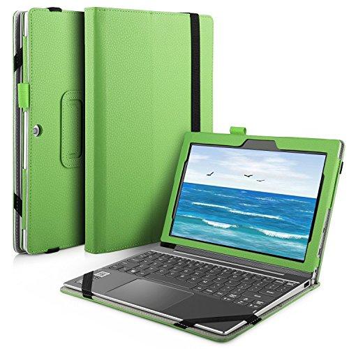 IVSO Lenovo Miix 320 hülle, hochwertiges PU Leder Etui hülle Tasche Case - mit Standfunktion, super 360° Anti-Wrestling, ist für Lenovo Miix 320 Tablet-PC ideal geeignet (Für Lenovo Miix 320, Grün)