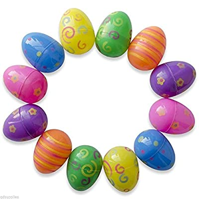 20 Assorted Patterned Fillable Plastic Surprise Eggs - Fill With Easter Hunt Gifts And Chocolate