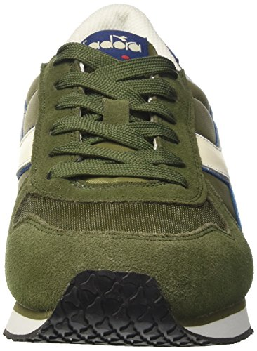 Diadora K-Run II, Sneaker a Collo Basso Uomo Verde (Olivine/Estate Blue/Whisper Wh)