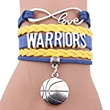 WEI Armband Multilayer Geflochten Armband Basketball Warriors Brief Dekorative Armband Fan Geschenk,Bild,Einheitsgröße